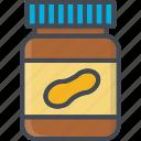 breakfast, food, jar, peanutbutter icon