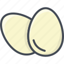 breakfast, eggs, food icon