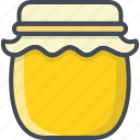 breakfast, food, honey, jar icon