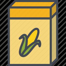 box, breakfast, cereal, corn, food icon