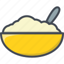 breakfast, cereal, food, oatmeal icon