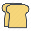 bread, breakfast, food, toasts icon