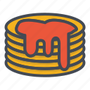 breakfast, food, jam, puncake icon