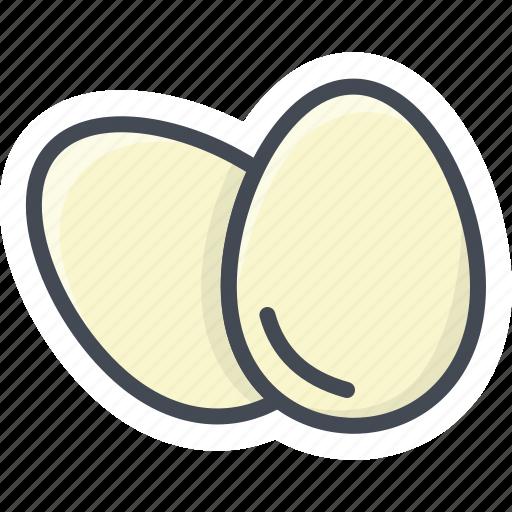breakfast, eggs, food, raw eggs icon