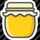 breakfast, food, honey, jar icon