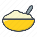 bowl, breakfast, food, oatmeal icon