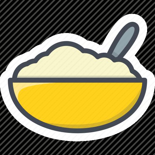 bowl, breakfast, food, oatmeal icon