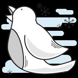 bird, calling, christmas, tweet, tweeting icon