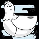 christmas, chicken, hen, french, bird