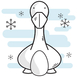 christmas, duck, egg, geese, goose, laying icon