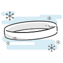 christmas, gold, hoop, ring icon