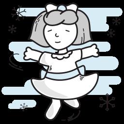 christmas, dancing, girl, lady icon