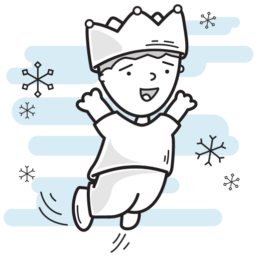 boy, christmas, crown, king, leaping, lord, prince icon