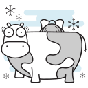 christmas, cow, farm, maid, milking icon