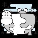 christmas, cow, farm, maid, milking