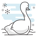 bird, christmas, duck, goose, swan, swimming icon