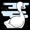 bird, christmas, duck, goose, swan, swimming