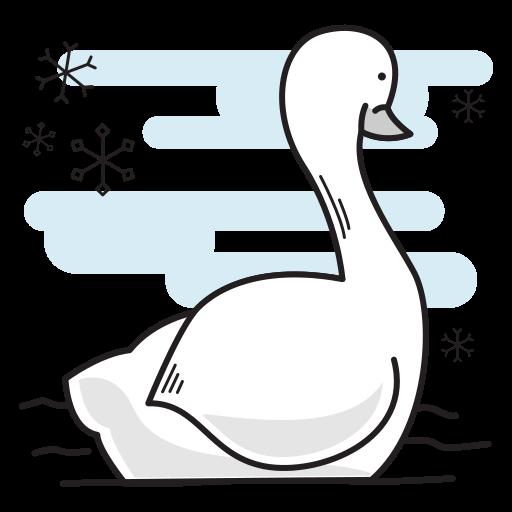 bird, christmas, duck, goose, swan, swimming icon