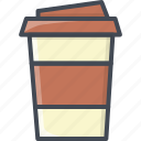 coffee, cup, drinks, food icon