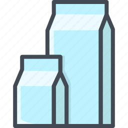 drinks, food, milk, packet icon
