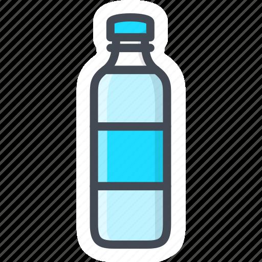 bottle, drinks, food, sticker, water icon