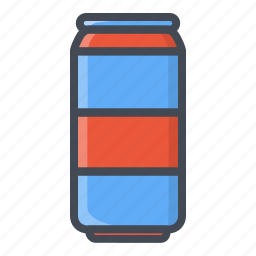 can, coke, drinks, food, sticker icon