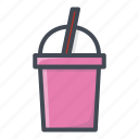 drinks, food, milk, shake, sticker icon
