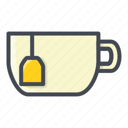 cup, drinks, food, stickers, tea icon
