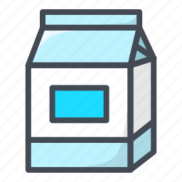 drinks, food, milk, pack, stickers icon