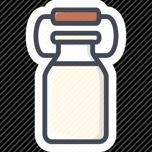 drinks, food, milk, stickers icon