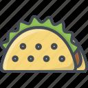 fastfood, food, taco icon