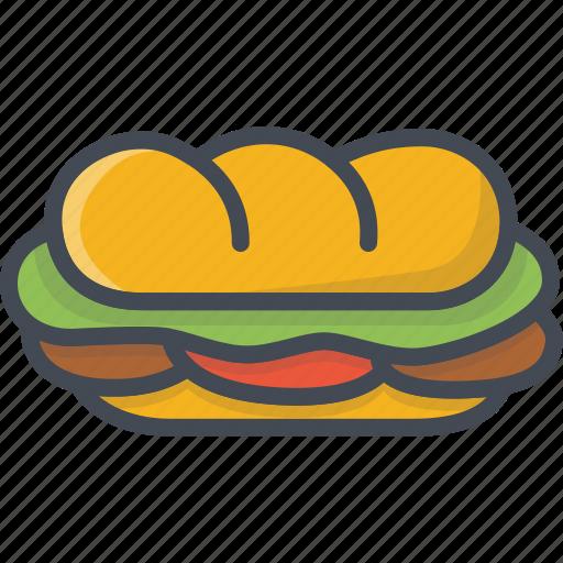 fastfood, food, sandwich icon