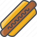 fastfood, food, hot dog icon