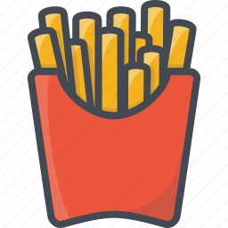 fastfood, food, french, fries icon