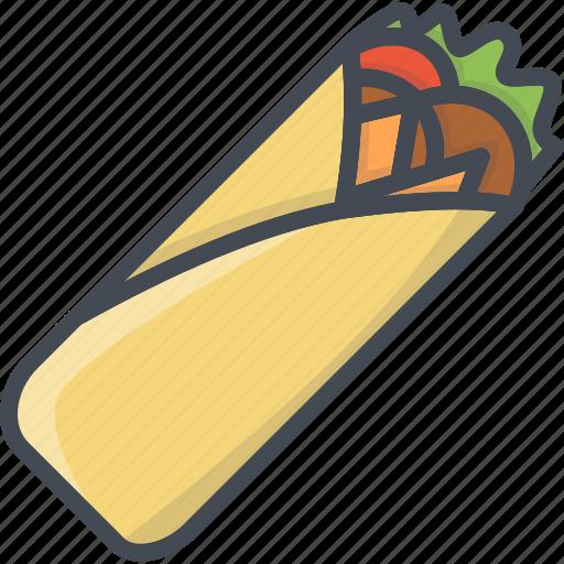 fastfood, food, shaurma icon