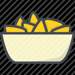 cheese, fastfood, food, nachos icon