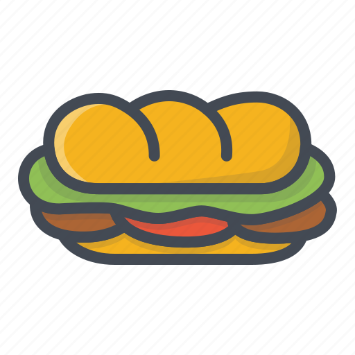 fastfood, food, sandwich icon