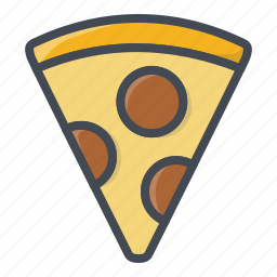 fastfood, food, pizza, slice icon