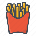 fastfood, food, french, froes, stickers icon