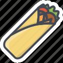 fastfood, food, shaurma, stickers icon