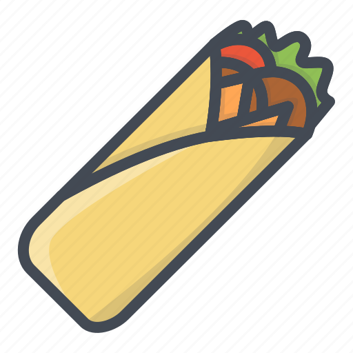 fastfood, food, shaurma, stickers icon