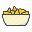 cheese, fastfood, food, nachos, stickers icon