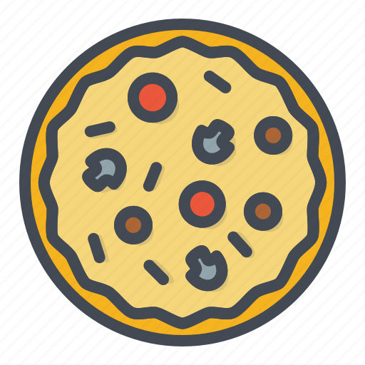 fastfood, food, pizza, stickers icon