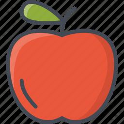 apple, food, fruits icon