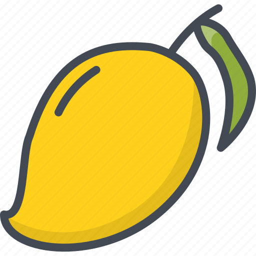 food, fruits, mango icon