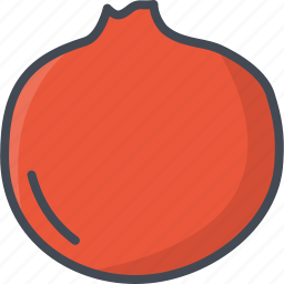 food, fruits, pomegranate icon