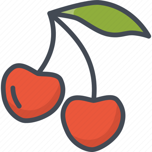 cherry, food, fruits icon