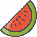 food, fruits, slice, watermelon icon