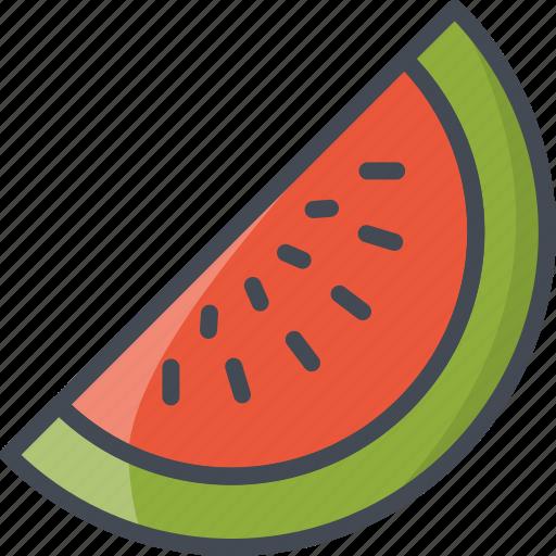 food, fruits, slice, watermelon icon