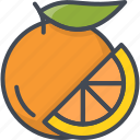 food, fruits, orange, slice icon